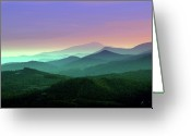 Mountain Range Greeting Cards - Waiting For Twilight... Greeting Card by Deb Howell