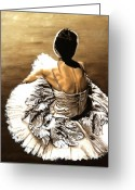 Sat Painting Greeting Cards - Waiting in the Wings Greeting Card by Richard Young