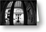 Chicago Artist Greeting Cards - Waiting in Union Station Greeting Card by John Rizzuto