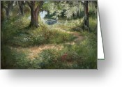 Low Country Greeting Cards - Waiting Greeting Card by Jane Woodward