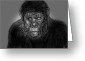 Planet Of The Apes Greeting Cards - Waiting To Rise Greeting Card by Dan Marquart