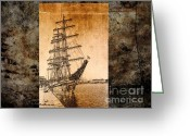 Karo Evans Greeting Cards - Waiting to sail Greeting Card by Karo Evans