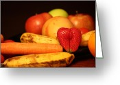 Mango Greeting Cards - Wake Up - Fruit Is In The Air Greeting Card by Andrea Nicosia