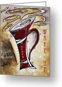Upbeat Greeting Cards - Wake Up Call by MADART Greeting Card by Megan Duncanson