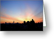 Nikon D200 Greeting Cards - Wake Up New York Greeting Card by Robert DeMarco