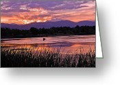 Brian Kerls Greeting Cards - Walden Ponds Sunset Greeting Card by Brian Kerls
