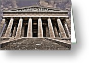 1842 Greeting Cards - Walhalla ... Greeting Card by Juergen Weiss