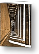 1842 Greeting Cards - Walhalla Colonnade ... Greeting Card by Juergen Weiss