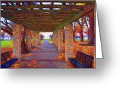 Walkways Greeting Cards - Walk in the Park Greeting Card by Jeff Kolker