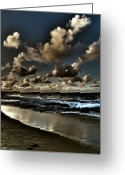 Oceano Greeting Cards - Walk on the Beach Greeting Card by Mauricio Jimenez