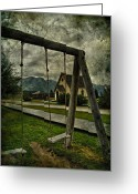 Edmonton Photographer Prints Greeting Cards - Walk To The Swings Greeting Card by Jerry Cordeiro