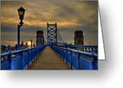 Suspension Bridge Greeting Cards - Walk with Me Greeting Card by Evelina Kremsdorf