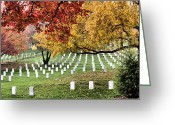 Veterans Day Greeting Cards - Walking Among Heroes  Greeting Card by JC Findley