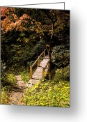 Calm Framed Prints Prints Greeting Cards - Walking Bridge Greeting Card by Paul Pobiak