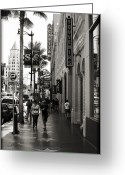Celebrities Photo Greeting Cards - Walking In LA Greeting Card by Ricky Barnard