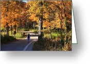 Lyle Hatch Greeting Cards - Walking Greeting Card by Lyle Hatch