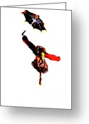 Tightrope Greeting Cards - Walking on the wind Greeting Card by David Bearden