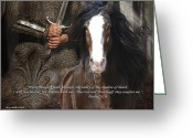 Armor Greeting Cards - Walking though the Valley Greeting Card by Terry Kirkland Cook