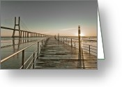 Da Greeting Cards - Walkway And Bridge Greeting Card by Landscape photography
