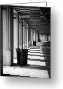 Concrete Greeting Cards - Walkway Greeting Card by Scott Norris