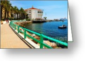 Cruise Ship Greeting Cards - Walkway to Avalon Casino Greeting Card by Eddie Yerkish