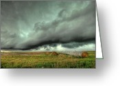 Supercell Greeting Cards - Wall Cloud Greeting Card by Thomas Zimmerman