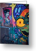 Graffiti Greeting Cards - Wall Greeting Card by Derek Selander