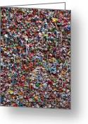 Still Life Greeting Cards - Wall of chewing gum Seattle Greeting Card by Garry Gay