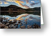 Rocky Mountains Greeting Cards - Wall Reflection Greeting Card by Chad Dutson