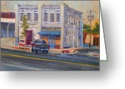 Wall Street Painting Greeting Cards - Wall Street Calhoun Greeting Card by Donald Maier