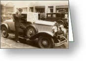 Roadster Greeting Cards - Wall Street Crash, 1929 Greeting Card by Granger