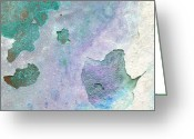 Abstract Impressionism Photo Greeting Cards - Walla Greeting Card by Bill Morgenstern