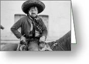 Pancho Greeting Cards - Wallace Beery (1885-1949) Greeting Card by Granger