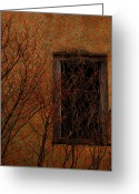 Window Prints Posters Greeting Cards - Walls And Stones Greeting Card by Jerry Cordeiro
