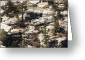 Native American Indians Greeting Cards - Walnut Canyon Greeting Card by John Rizzuto