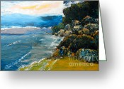 Pamela Meredith Greeting Cards - Walomwolla Beach Greeting Card by Pamela  Meredith