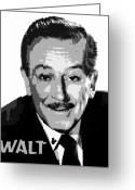 E Black Greeting Cards - Walt Greeting Card by David Lee Thompson