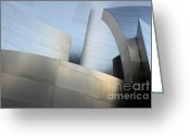 Architect Photo Greeting Cards - Walt Disney Concert Hall 1 Greeting Card by Bob Christopher