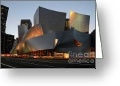 Architect Photo Greeting Cards - Walt Disney Concert Hall 21 Greeting Card by Bob Christopher
