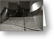 Bauwerk Greeting Cards - Walt Disney Concert Hall Greeting Card by Aurica Voss