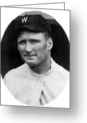 Professional Baseball Greeting Cards - Walter Johnson - Washington Senators Baseball Player Greeting Card by International  Images