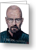 Shirts Greeting Cards - Walter White - I Won Greeting Card by Tom Roderick