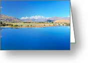 Alpine Panorama Greeting Cards - Wanaka lake Greeting Card by MotHaiBaPhoto Prints