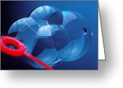 Concepts Greeting Cards - Wand making bubbles Greeting Card by Garry Gay