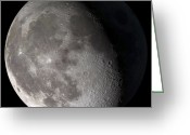Whole Greeting Cards - Waning Gibbous Moon Greeting Card by Stocktrek Images