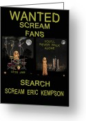 Motown Scream Tour Greeting Cards - Wanted Scream Fans Greeting Card by Eric Kempson