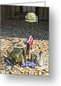 Veterans Greeting Cards - War Dogs Sacrifice Greeting Card by Carolyn Marshall