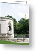 Legislature Greeting Cards - War Memorial Greeting Card by Thomas R Fletcher
