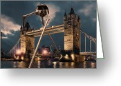 London England  Digital Art Greeting Cards - War of the Worlds London Greeting Card by Peter Chilelli