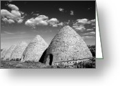 Charcoal Greeting Cards - Ward Charcoal Ovens Greeting Card by Scott McGuire